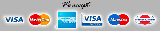 We accept cards